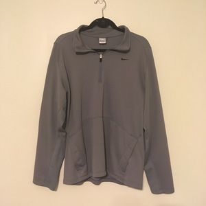 Gray Nike Quarter Zip-up Pullover